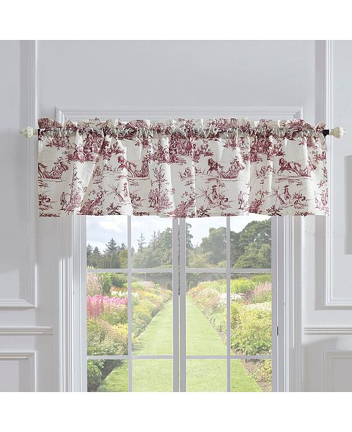 Greenland Home Fashions Classic Toile Window Valance