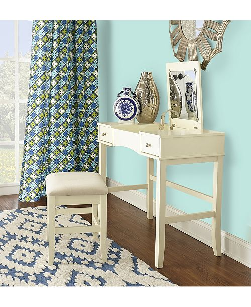Linon Home Décor Jackson Vanity Set With Bench And Flip Up