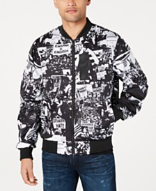 Sean John Men's Protest Graphic Jacket