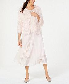 Alfani Confetti Jacket, Tank Top & Pleated Midi Skirt, Created for Macy's