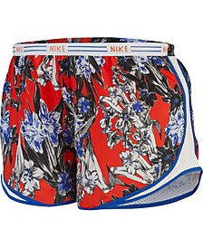 Plus Size Tempo Dry Printed Shorts