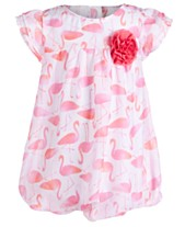 55ff52e3e First Impressions Baby Girls Flamingo-Print Bubble Romper, Created for  Macy's