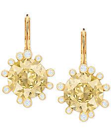 Swarovski Crystal Round Drop Earrings