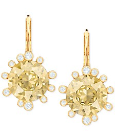 Swarovski Crystal Round Drop Earrings