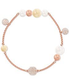 Swarovski Remix Pavé Fireball & Imitation Pearl Magnetic Link Bracelet