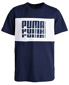 Puma Big Boys Colorblocked Logo-Print T-Shirt