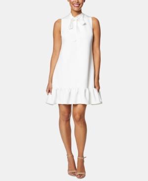 Betsey Johnson Dresses TIE-NECK FLOUNCE DRESS