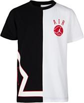 buy online f462e 18841 Jordan Big Boys Colorblocked Air Logo Cotton T-Shirt