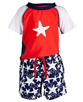 b45b2226c First Impressions Baby Boys 2-Pc. Starfish-Print Swim Set, Created for
