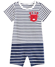 First Impressions Baby Boys Nautical Striped Cotton Sunsuit, Created for Macy's