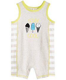 First Impressions Baby Boys Stay Cool Cotton Sunsuit, Created for Macy's