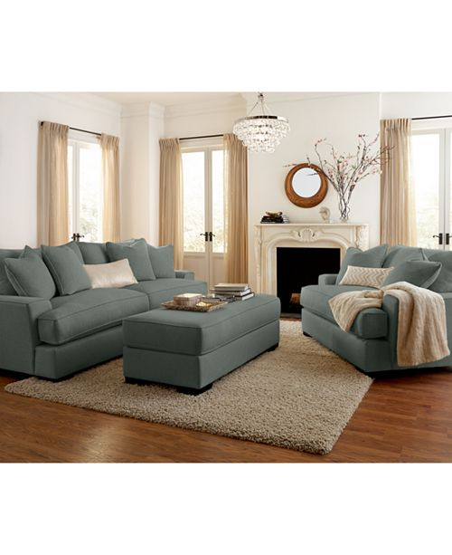 Ainsley Fabric Sofa Living Room Collection, Created for Macy\'s