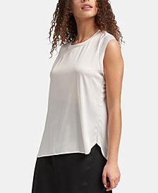 DKNY Flutter Cap-Sleeve Top, Created for Macy's