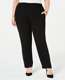 Nine West Plus Size Crepe Pants