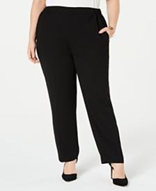 Nine West Plus Size Crepe Pants