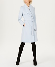 Calvin Klein Belted Wrap Trench Coat