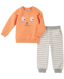 Kids Headquarters Baby Boys 2-Pc. French Terry Sweatshirt & Jogger Pants Set
