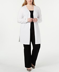 JM Collection Plus Size Embellished Cardigan, Created for Macy's