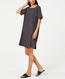 Eileen Fisher Printed Shift Dress, Regular & Petite