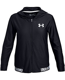 Under Armour Big Girls Play Up Full-Zip Hooded Jacket