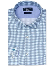 Men's Heritage Slim-Fit Stretch X Check Dress Shirt