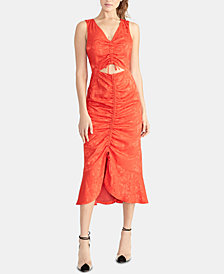 RACHEL Rachel Roy Shiloh Ruched Midi Dress, Created for Macy's