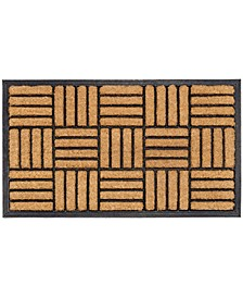 "Doormat Natural Brushed Coir Parquet 24"" x 36"", Rubber, Durable"