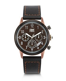 Mens' Graham Chronograph Black Leather Strap Watch
