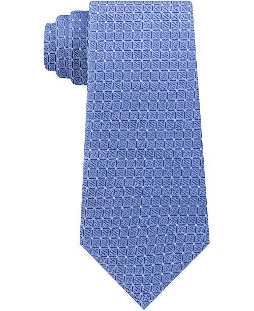 Calvin Klein Men's Grid Slim Silk Tie