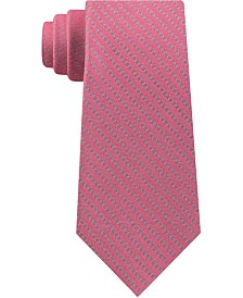 Calvin Klein Men's Panel Stripe Slim Silk Tie