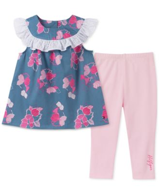 Tommy Hilfiger Baby Girls 2 Pieces Leggings Set