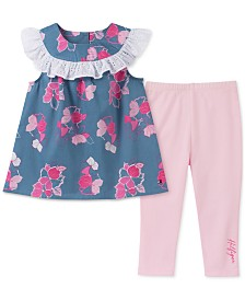 Tommy Hilfiger Baby Girls 2-Pc. Ruffled Tunic & Leggings Set