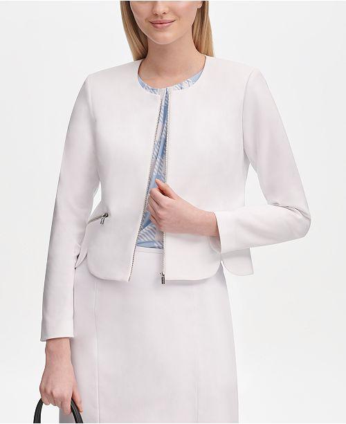 Calvin Klein Zip-Up Scallop Jacket