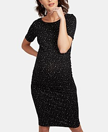 Isabella Oliver Maternity Ruched Printed Dress
