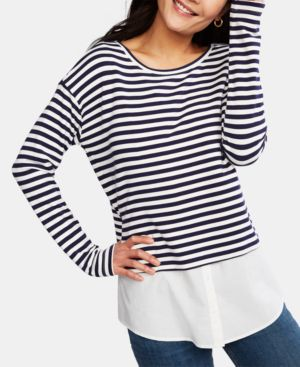Image of A Pea In The Pod Layered-Look Nursing Top