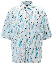 BOSS Men's Relaxed-Fit Lightweight Printed Shirt