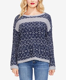 Vince Camuto Textured Jacquard Sweater