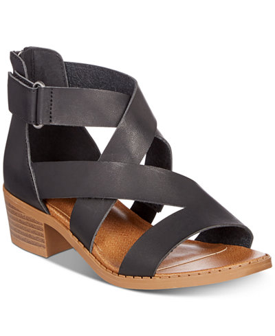 Sugar Little & Big Girls Block-Heel Sandals
