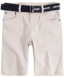 Big Boys 511 Belted Slim-Fit Sueded Shorts