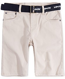 Levi's® Big Boys 511 Belted Slim-Fit Sueded Shorts