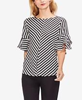 6cf3510078af2 Vince Camuto Striped Flutter-Sleeve Top