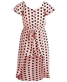 Monteau Big Girls Dot-Print Walkthrough Romper