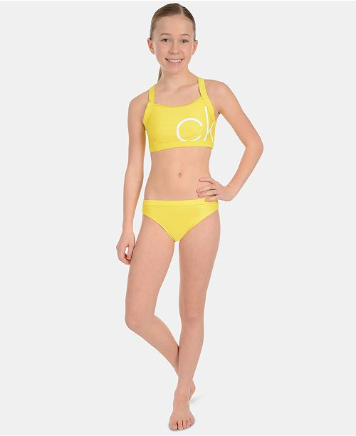 5d81021d8a Calvin Klein Big Girls 2-Pc. Bikini Swimsuit & Reviews - Swimwear ...