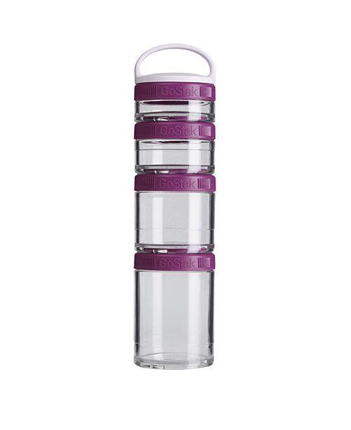 BlenderBottle Gostak Twist N' Lock Storage Jars, 4-Piece Starter Pak