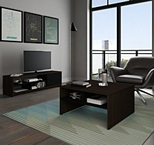 Small Space 2 - Piece Storage Coffee Table and TV Stand Set