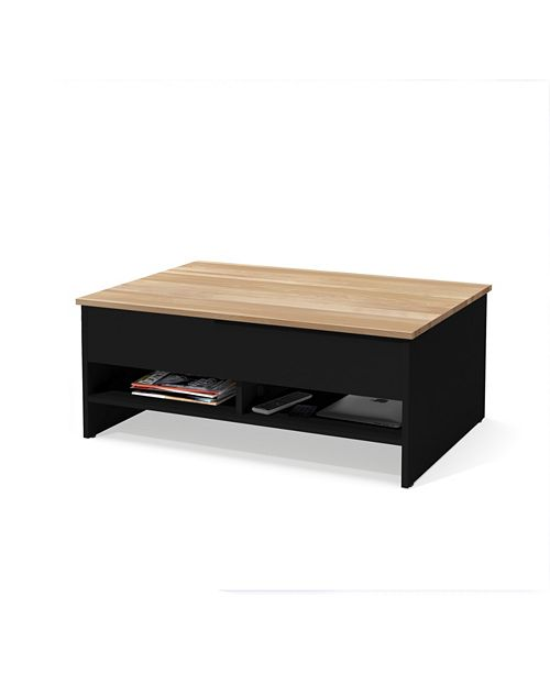 Bestar Small Space 37 Lift Top Storage Coffee Table With Solid