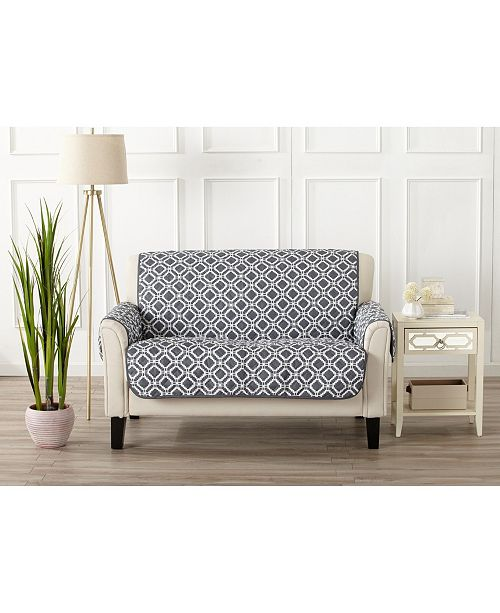Great Bay Home Fashions Printed Deluxe Reversible Loveseat Furniture Protector