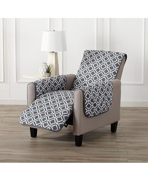 Great Bay Home Fashions Printed Deluxe Reversible Recliner Furniture Protector