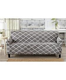 Printed Velvet Plush Form Fit Stretch Sofa Slipcover