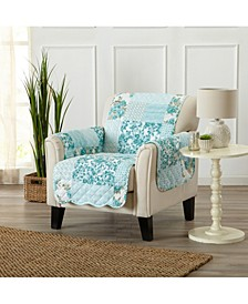 Patchwork Scalloped Printed Reversible Furniture Protector Collection